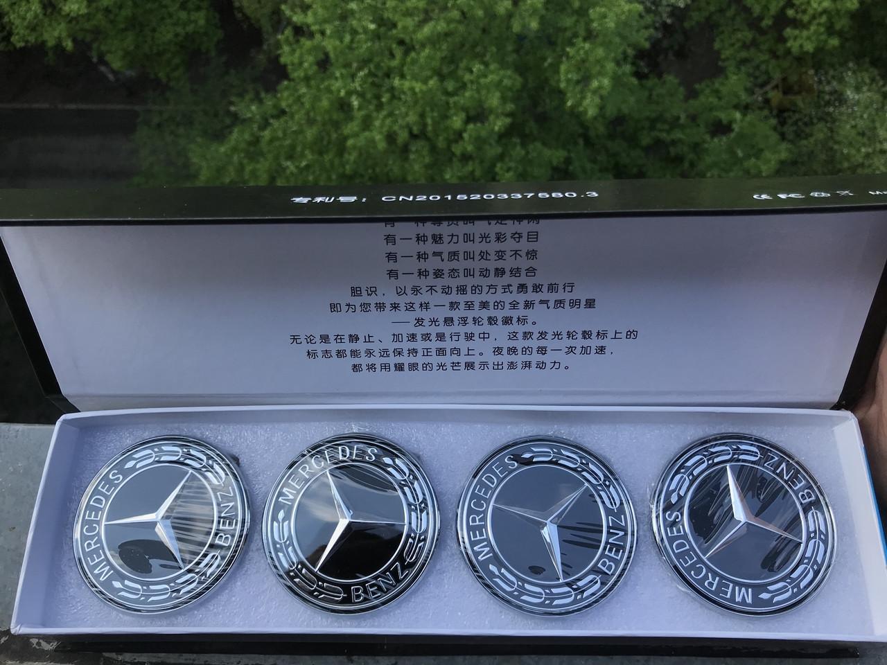 Светящиеся Led Колпачки колпаки заглушки на Mercedes Мерседес