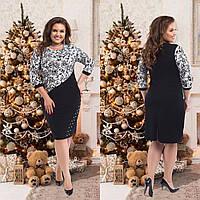 Женское  нарядное платье размер 50-56 СВ2671 белый