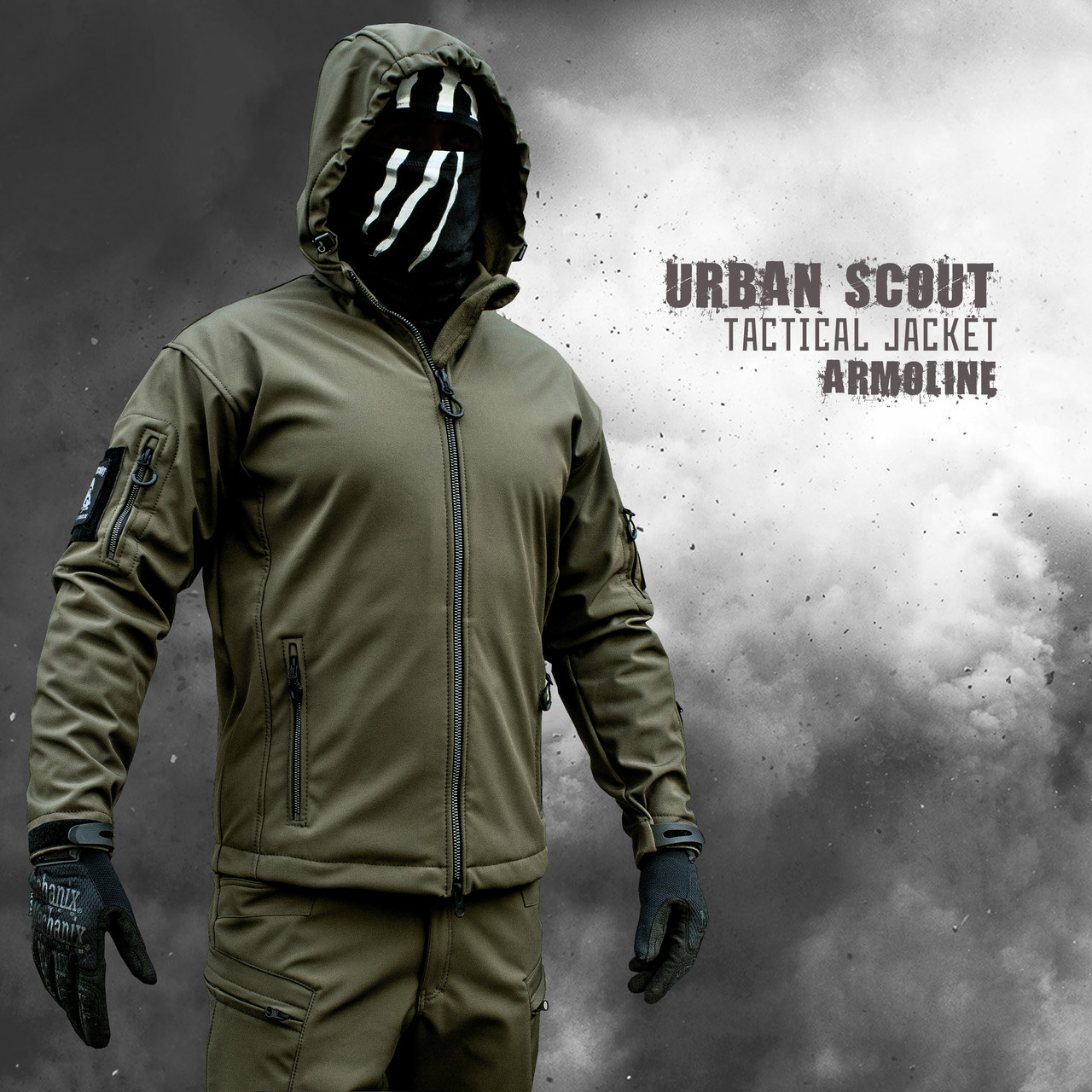 """Куртка SoftShell """"URBAN SCOUT"""" OLIVE (ВИДЕО)"""