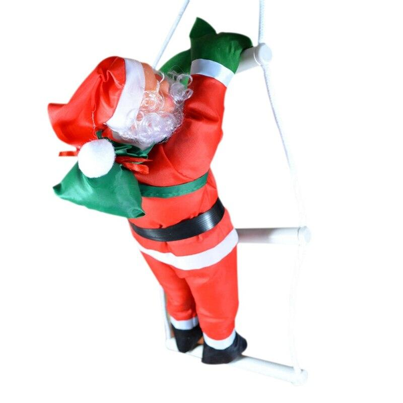Дед Мороз на лестнице, 25 см.