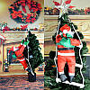 Дед Мороз на лестнице, 25 см., фото 7