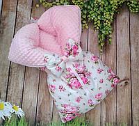 Конверт-трансформер 3 в 1, конверт-одеяло на выписку, конверт в коляску для новорожденного