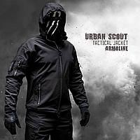 """Куртка SoftShell """"URBAN SCOUT"""" BLACK (ВИДЕО)"""