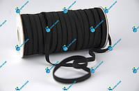 Тасьма еластична, в'язана гумка. Ширина 8мм, довжина 50 метрів. Чорна., фото 1