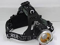 Налобный фонарик Police BL- T619 – Т6 (2 аккумулятора 18650, линза, фокус, 2 зарядных)