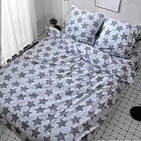 Двоспальний постільний комплект - Зорі на білому
