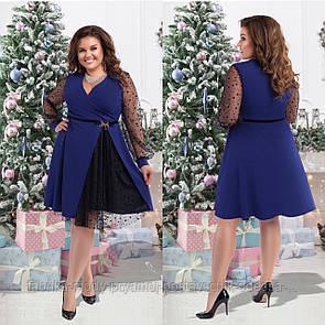 Женское  нарядное платье размер 50-56 СВ2240 синий