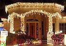 """[ОПТ]Уличная светодиодная новогодняя гирлянда """"Бахрома/Штора"""", 140LED, 3м*0.8м, IP-44(тёплая и холодная белая), фото 4"""