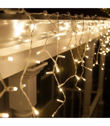 """[ОПТ]Уличная светодиодная новогодняя гирлянда """"Бахрома/Штора"""", 140LED, 3м*0.8м, IP-44(тёплая и холодная белая)"""