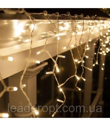 """[ОПТ]Вулична новорічна світлодіодна гірлянда Бахрома/Штора"""", 140LED, 3м*0.8 м, IP-44(тепла і холодна біла)"""