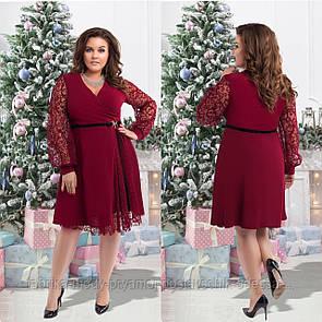Женское  нарядное платье размер 50-56 СВ2240 бордо