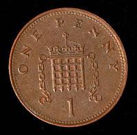 Монета Великобритании 1 пенни 1998 г., фото 1
