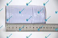 Тесьма эластичная, резинка вязаная. Ширина 3мм, длина 50 метров. Белая.