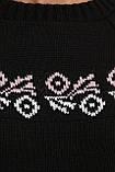 Жіночий в'язаний светр з вишивкою (3 кольори, р. 44-48 UNI), фото 8