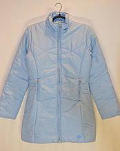 Женское демисезонное (еврозима) голубое спортивное пальто Adidas