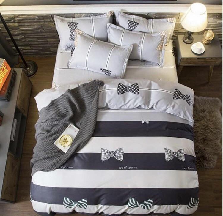 Двоспальний постільний комплект - бант метелик