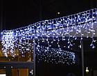 "[ОПТ] Уличная светодиодная гирлянда ""Бахрома/Штора"" на черном проводе, 124 LED, 3м*0.8м, IP-44, синяя, фото 4"