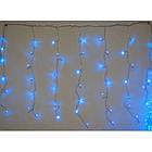 """[ОПТ] Вулична світлодіодна гірлянда Бахрома/Штора"""" на чорному проводі, 124 LED, 3м*0.8 м, IP-44, синя, фото 2"""