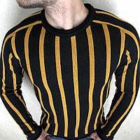 """В'язаний светр чоловічий молодіжний в смужку, розміри M-2XL (3 цв) """"EMRE"""" купити недорого від прямого"""