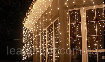 """[ОПТ] Вулична новорічна світлодіодна гірлянда """"Завісу"""" з мерехтінням, 360LED, 2м*2м, IP-44, 4 кольори"""