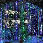 """[ОПТ] Вулична новорічна світлодіодна гірлянда """"Завісу"""" з мерехтінням, 360LED, 2м*2м, IP-44, 4 кольори, фото 2"""