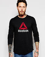 """Свитшот чёрный REEBOK   ( Рибок ) ( большое лого ) """""""" В стиле Reebok """""""""""