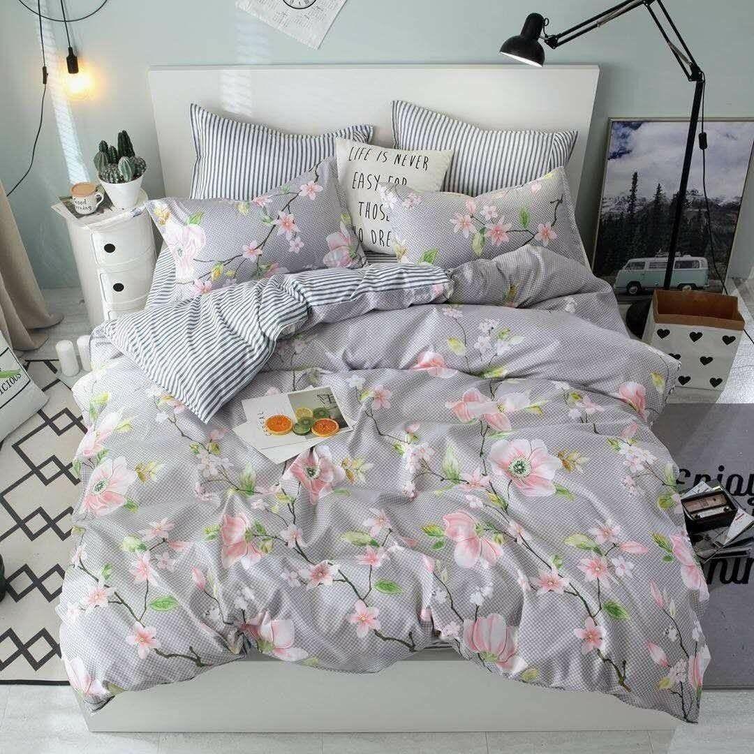 Двоспальний постільний комплект - айстри