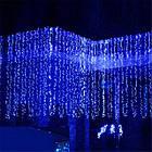 """[ОПТ] Вулична світлодіодна гірлянда """"Завісу"""" з мерехтінням,480LED, 3м*3м, IP-44, синя (провід-каучук), фото 5"""