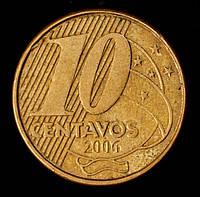 Монета Бразилии 10 сентаво 2006 г., фото 1