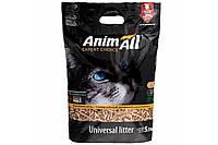 Деревний наповнювач для котів, 5.3 кг, 300 г безкоштовно, AnimAll