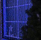"""[ОПТ] Уличная светодиодная новогодняя гирлянда """"Занавес"""" с мерцанием, 216LED, 2м*2м, IP-44, синяя, фото 2"""