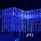 """[ОПТ] Уличная светодиодная новогодняя гирлянда """"Занавес"""" с мерцанием, 216LED, 2м*2м, IP-44, синяя, фото 5"""