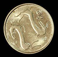 Монета Кипра 2 цента 1998 г., фото 1