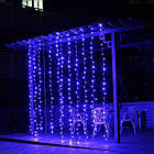 """[ОПТ] Уличная светодиодная новогодняя гирлянда """"Занавес"""", 210LED, 3м*1.5м, IP-44, (синий, холодный белый), фото 2"""