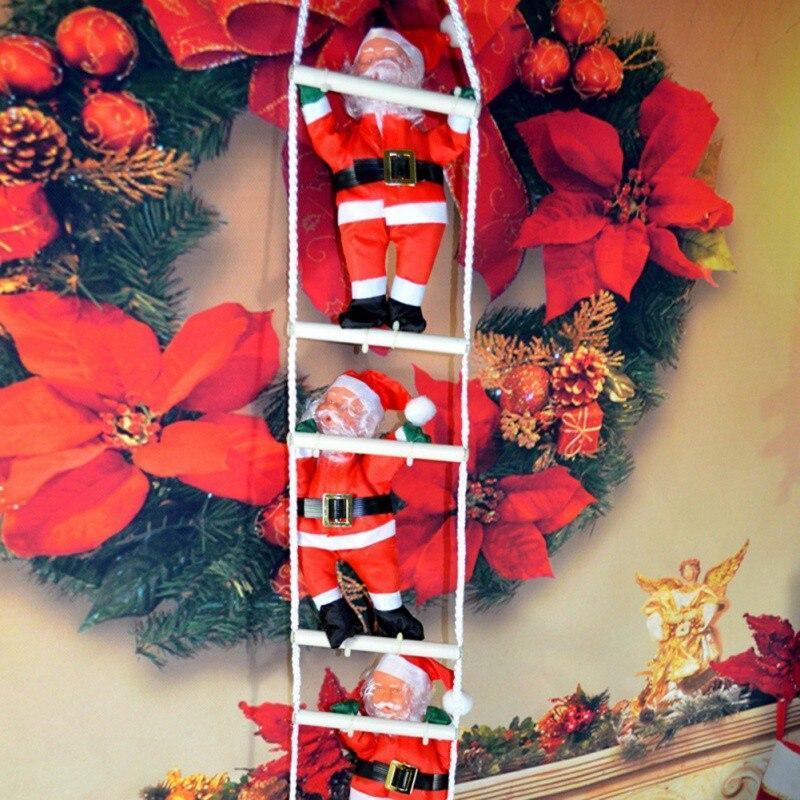 3 Деда Мороза на лестнице, по 35см.