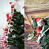 3 Деда Мороза на лестнице, по 35см., фото 8
