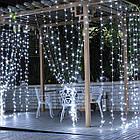 """[ОПТ] Вулична новорічна світлодіодна гірлянда """"Завісу"""", 210LED, 3м*1.5 м, IP-44, (синій, холодний білий), фото 7"""