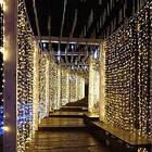 """[ОПТ] Вулична новорічна світлодіодна гірлянда """"Завісу"""" з мерехтінням, 216LED, 2м*2м, IP-44, (теплий білий), фото 4"""