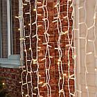 """[ОПТ] Вулична новорічна світлодіодна гірлянда """"Завісу"""" з мерехтінням, 216LED, 2м*2м, IP-44, (теплий білий), фото 5"""