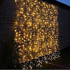 """[ОПТ] Уличная светодиодная новогодняя гирлянда """"Занавес"""" с мерцанием, 480LED, 3м*3м, IP-44, (теплый белый), фото 2"""