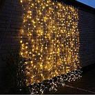 """[ОПТ] Уличная светодиодная новогодняя гирлянда """"Занавес"""" с теплым мерцанием, 240LED, 3м*2м, IP-44, (черный, фото 4"""