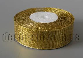 Лента парча золотая 2,5 см 25ярд