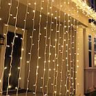 """[ОПТ] Уличная светодиодная новогодняя гирлянда """"Занавес"""" с теплым мерцанием, 360LED, 3м*2м, IP-44, (черный провод), фото 3"""