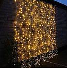 """[ОПТ] Уличная светодиодная новогодняя гирлянда """"Занавес"""" с теплым мерцанием, 360LED, 3м*2м, IP-44, (черный провод), фото 4"""