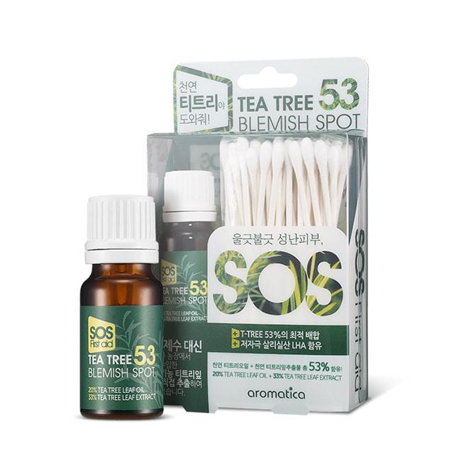 Точечное средство для проблемной кожи с чайным деревом AROMATICA TEA TREE 53 BLEMISH SPOT Корея