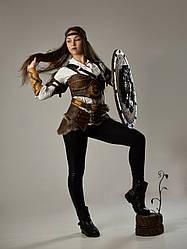 Броня женская (натуральная кожа)  - ручная робота
