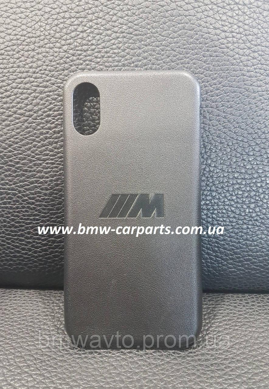 Кожаный чехол BMW M для iPhone X, Black
