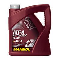 Трансмиссионное минеральное масло MANNOL Automatic Fluid ATF-A 4л.