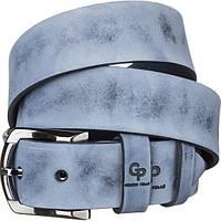 Ремень мужской Grande Pelle 11063 из итальянской кожи Синий, Синий, КОД: 190094