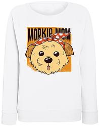 Женский свитшот Morkie Mom (белый)